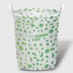 custom all over print laundry basket