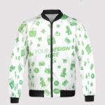 custom all over print fleece bomber jacket