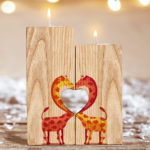 custom candle holder with heart