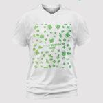 custom Unisex V-neck T-Shirt 2D