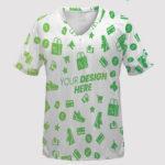 custom all over print v neck jersey