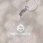 custom keychaine one side