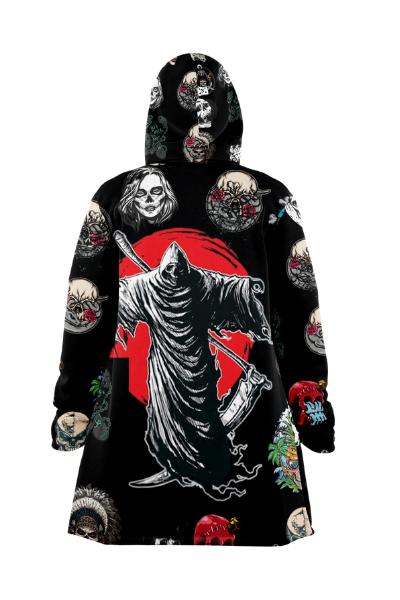 custom all over print hooded cloak coat