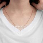 custom print on demand custom name necklace
