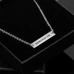 custom engraved pendant necklace