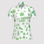 AOP Women polo shirt