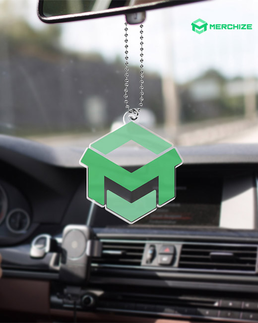 one-sided plastic car hanging ornament