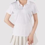 custom all over print women polo shirt