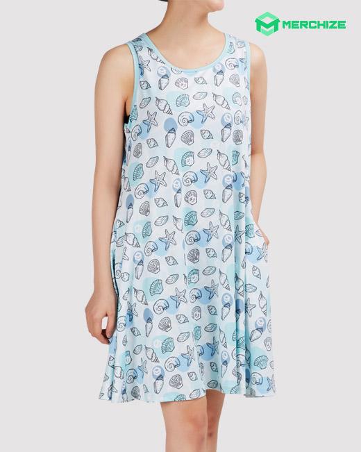aop sleeveless dress