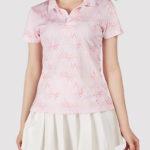 custom print on demand women polo shirt