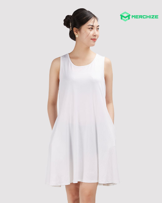 All Over Print Sleeveless Dress