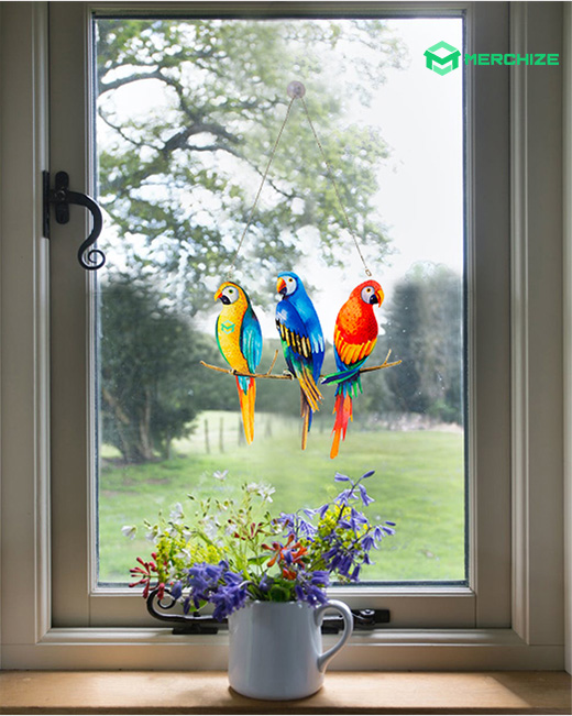 custom plastic window hanging ornament