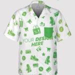 custom pocket hawaiian shirt