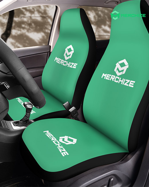 custom print on demand front car seat cover