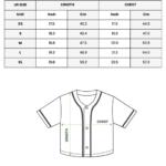 custom CROP TOP BASEBALL JERSEY size guide