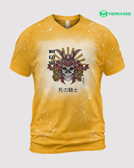 Bleached Unisex V-Neck T-Shirt
