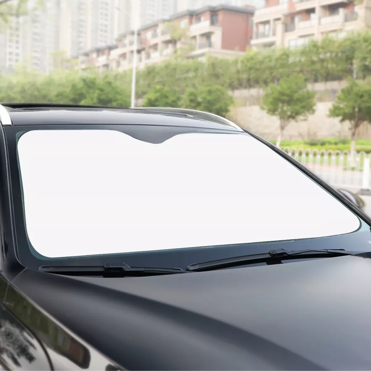 Custom windshield sunshade